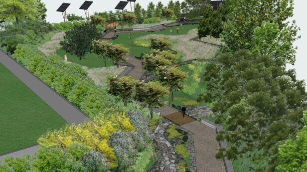 Tak ekopark w Ursusie wyobrażali sobie architekci / fot. dzięki uprzejmości autorów projektu