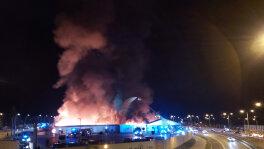 Pożar supermarketu w Kielcach