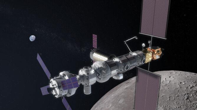 Projekt stacji Gateway z 2018 roku (NASA)