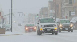 Śnieg sypie w stanie Iowa