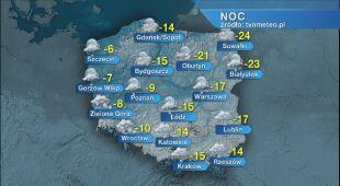 Prognoza pogody na noc 16/17.01