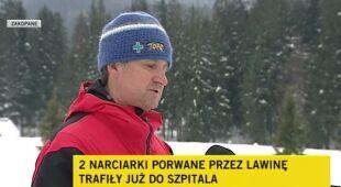Ratownicy wydobyli dwie narciarki z lawiniska (TVN24)
